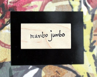 Nancy Curry Art  hand-lettered mumbo jumbo rubber stamp
