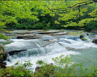 Nature Photography, Waterfall, Falling Water Creek, Richland Creek Wilderness Area, Six Finger Falls