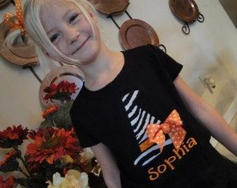 Halloween Shirt or bodysuit, Witch Shirt, Cute Witch Shirt, Personalized Halloween Shirt with name