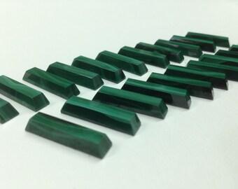 Natural Green Malachite Rectangle Piece 25mm x 6mm x 4mm