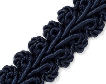 Vintage Chinese Braided Gimp Trim,  1/2 inch by 3-Yards, BADE-60197