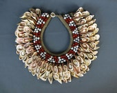 Shell Bead and Seed Neck Ornament. Tribal Papua Dowry Necklace