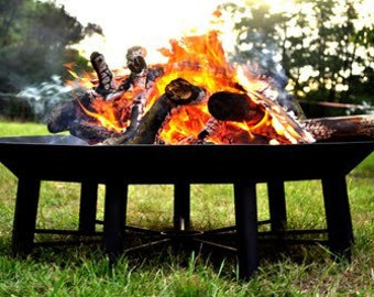 Huge Unique 9 Sided Outdoor Steel Garden Polygon Fire Pit -  The Nonagon