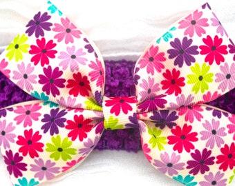 Multicolor Flower Bow