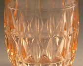 Windsor Diamond Pink Depression Glass Tumbler Jeannette  Drinkware Flat 9 Ounce Water Glassware Vintage Authentic Excellent Condition