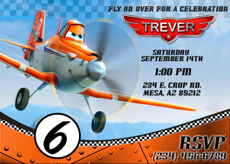 Dusty crophopper Planes Invitation