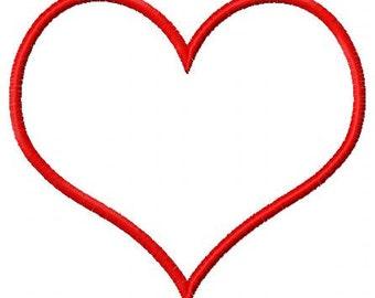 Heart Applique Designs (3 designs) Instant Download