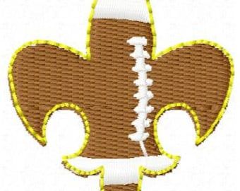 Mini Football Fleur De Lis Embroidery Design