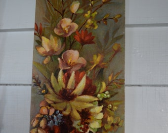 LITHO USA Arthur A. Kaplan Co. Flora Bella ll Beautiful Earth Tone Colors Flowers, Fruit, Butterfly