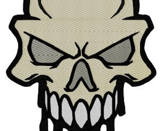 Skull Machine Embroidery Pattern