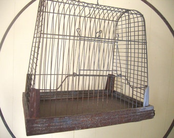 Vintage Birdcage and Circular Stand