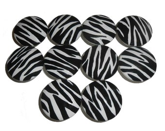 Custom Zebra Safari Hand Painted Drawer Pulls Knobs