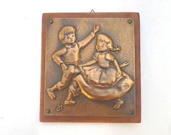 repousse, copper repousse, vintage copper, vintage repousse, vintage copper art, handmade, vintage copper repousse, copper art, copper