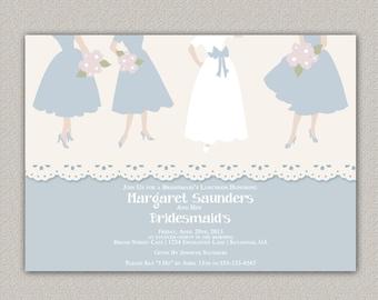 Bridesmaid's Luncheon Invitation - Custom Bridal Shower Invitation - DIGITAL -  DIY Printable Invitation