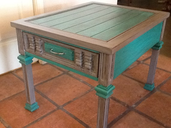 Items Similar To Unique Hand Painted End Accent Coffee Table On Etsy