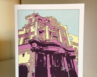 Funny Get Well Soon Card Baroque Architecture, Rome Italy, Italian Architecture, Illustration Greeting Card