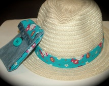 Fashionable Upcycled Denim Wallet w. Matching Hat (mix and match your Hat, Headband & Wallet with Fun Purse!)