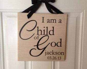I am a child of God canvas