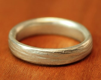 Wide RIver Wedding Band in sterling silver. Men's wedding band. Women's wedding band. Alternative Wedding Ring.