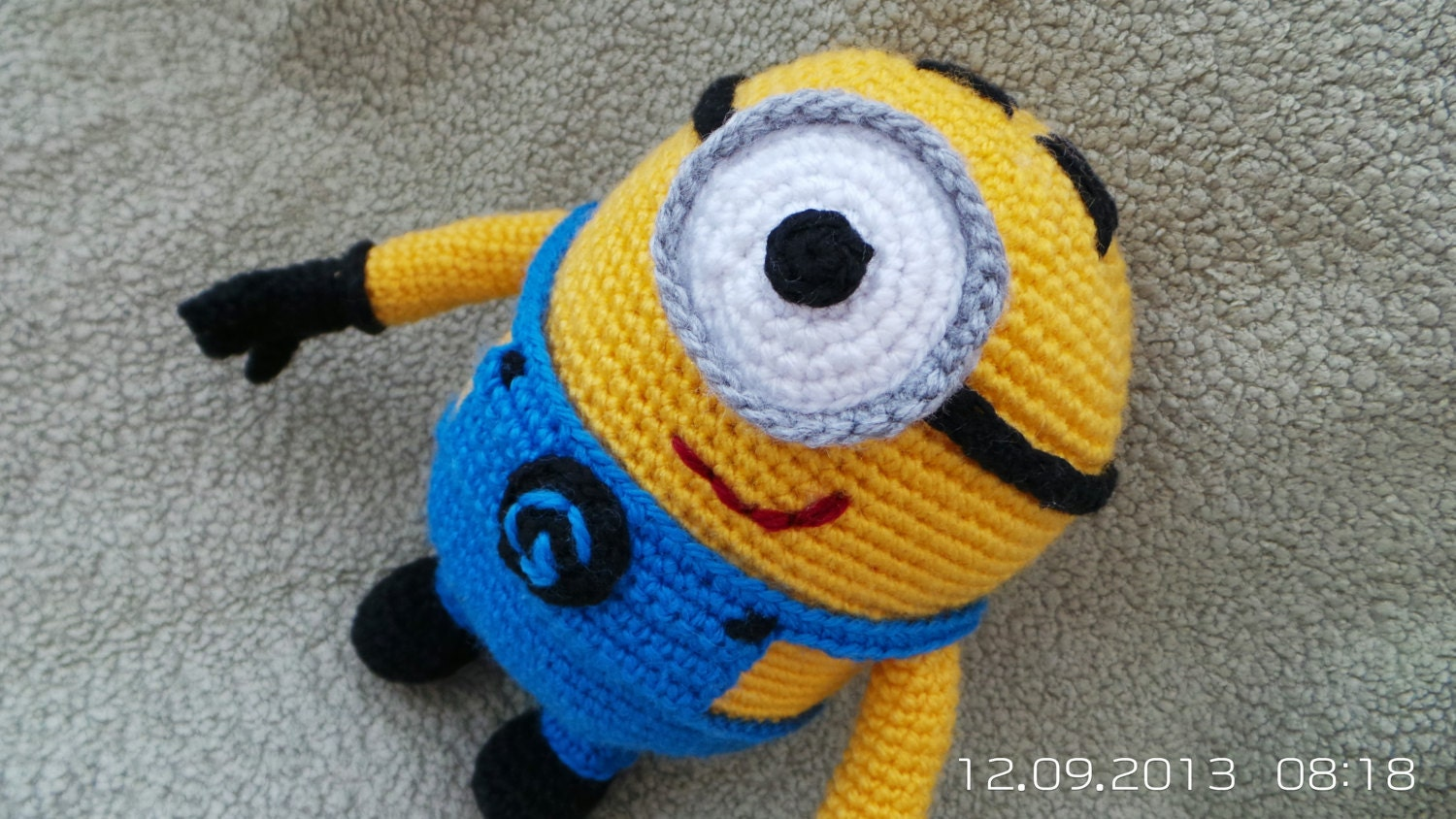Free Crochet Pattern For Minion Toy : Minion Despicable Me Crochet amigurumi doll toy by ...