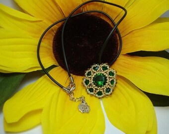 Pendant with chaton swarovski