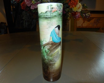 Hand Painted Vase Made in Austria