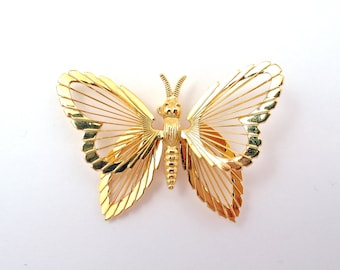 SALE - Vintage Monet Butterfly Brooch