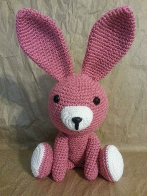 Squishy Bunny Etsy : Two Color Bushy Tail Bunny