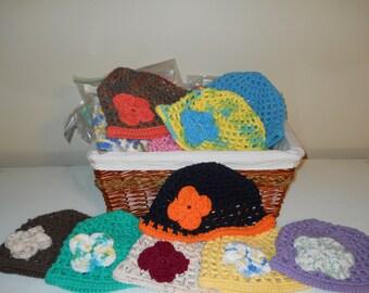Infant Girl/Toddler/Girl's Crocheted Beanie Cap/Hat