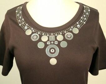 Silver Studded Rhinestone Shirt