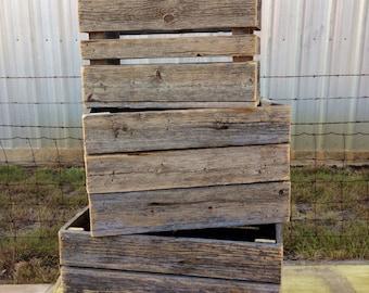 Large 3 piece crate set RestorationCrown Restoration Crown