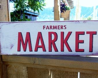 Farmers Market Sign - Kitchen Sign - Market Sign