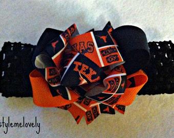 Texas Longhorns Baby Girl Bow Headband