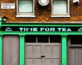 """8"""" x 10"""" Photography Print - Time For Tea, Shop Front, London"""
