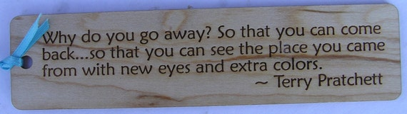 TRAVEL Quote Wood Bookmark (for personalization, please see our other listing!)