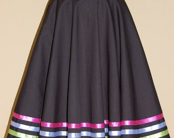 Full Circle Black Character Skirt. Suitable for Royal Academy of Dance character work.
