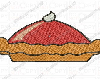 Pumpkin Pie Embroidery Design in 3x3 4x4 and 5x7 Sizes