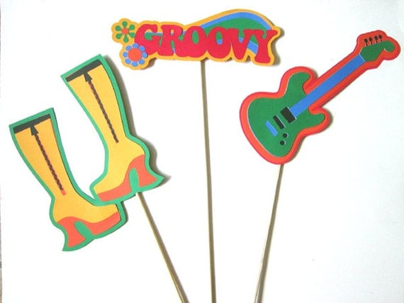 70 39 s party decorations centerpiece sticks for 70s decoration