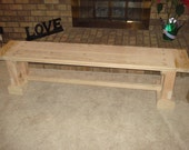 Wooden Bench with Breadboards