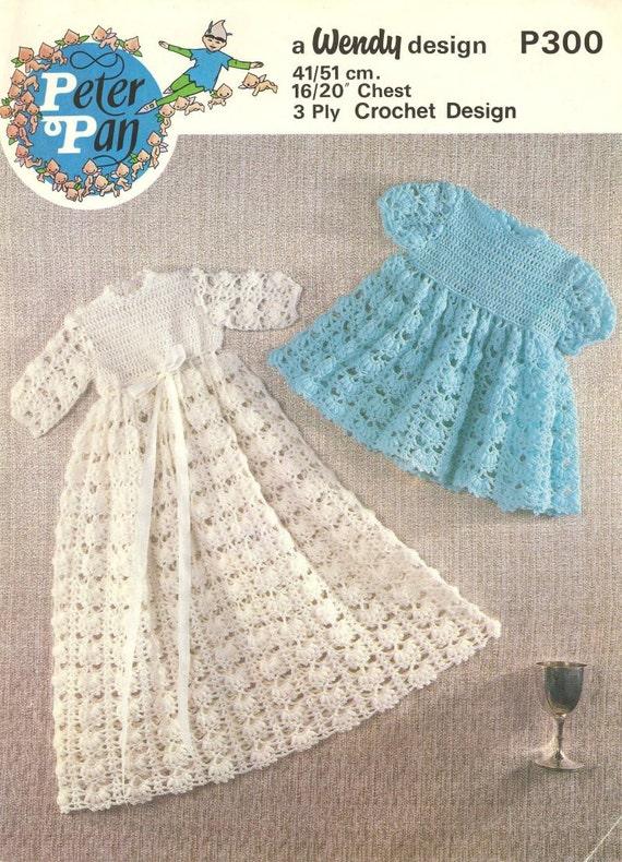 Vintage Crochet Baby Dress Pattern : baby crochet vintage christening dress crochet pattern PDF