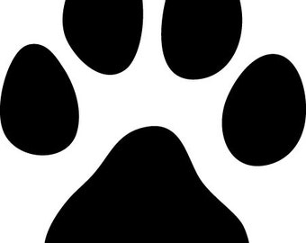 Dog Paw Prints | Wall Decal | Removable Decor | DIY Sign