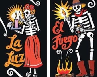 Dia De Los Muertos Skeleton Design Box of Matches - Hoodoo Voodoo Rootwork & Witchcraft