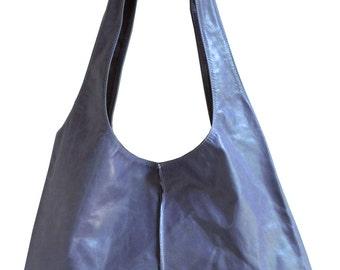Lilian leather hobo