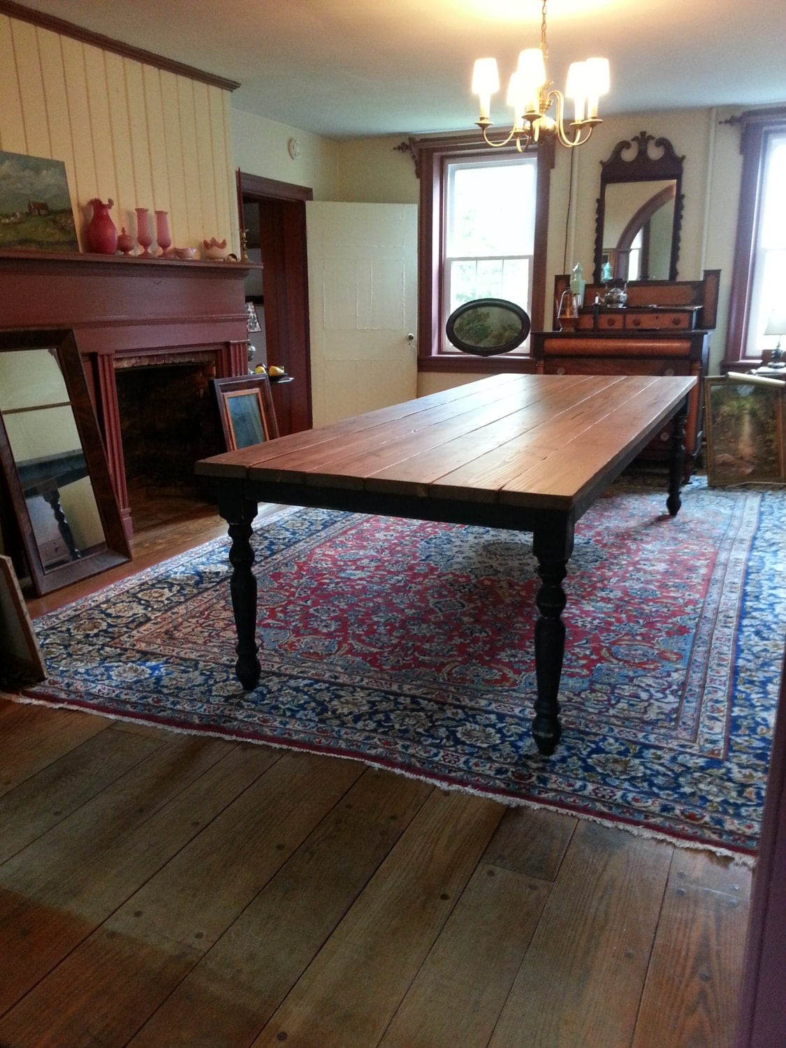 Large Rustic Farm Table By Customtimberhf On Etsy