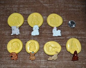 Set of seven dogs Silicone molds