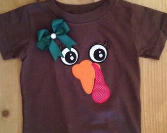 Girly Turkey Face Shirt or Baby Bodysuit