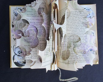 Altered Book Sculpture - Missing Pieces
