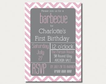 Printable 1st Birthday Invitation