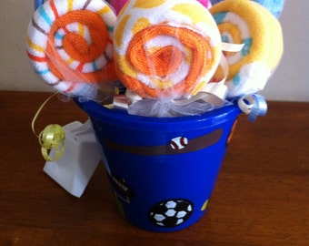 Large Wash Cloth Lollipop