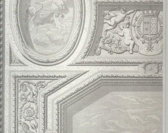 French Architectural Print, Palais de Justice de Rennes, Henri II